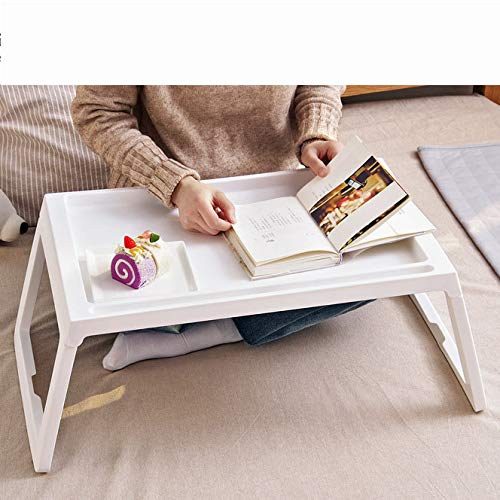 SHELFDQ Laptop Table Easy Foldable Bed Desk Student Dormitory Lazy Study Table Modern (Color : Beige) by SHELFDQ (Image #4)