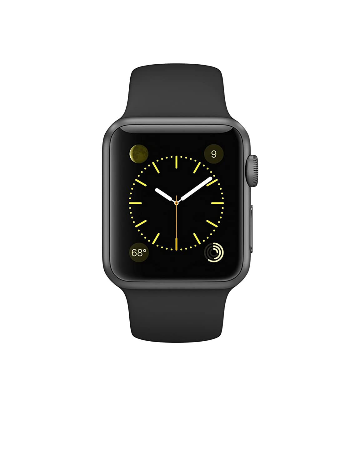91d5913166f Amazon.com  Apple Watch Series 1 38mm Space Gray Aluminum with Black Sport  Band  Cell Phones   Accessories