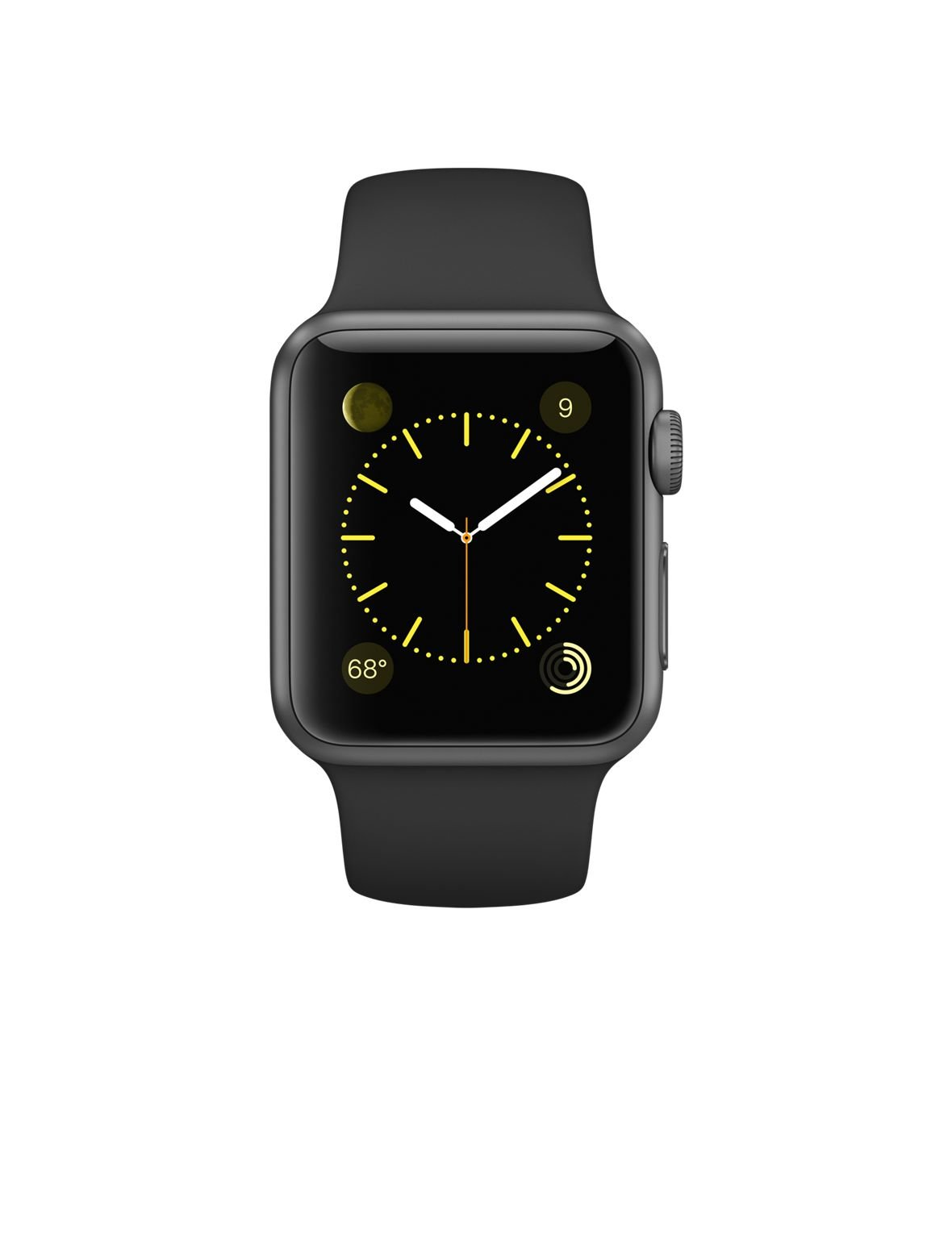 Apple Watch Series 1 38mm  Gray Aluminum with Black Sport Band