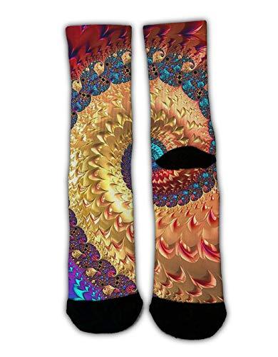 GLORY ART Funky Dress Socks, Octopus Tie Dye, Women Girls Multicolored Pattern Colorful Funky Slippers Crew Socks Cozy Warm Winter Socks Gifts