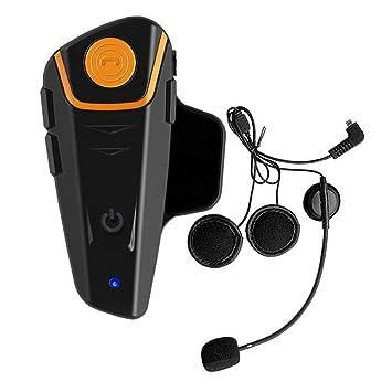VNETPHONE Pro Auriculares Intercomunicador Moto Bluetooth para Motocicletas, intercomunicador Casco Moto Headset BT-S2 (Manos Libres/Water Resistant/Radio ...