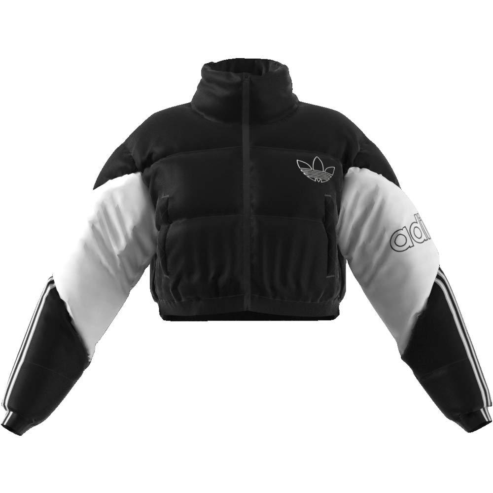 Graue Adidas Cropped Jacke Adidas Damen Cropped Jacke Damen