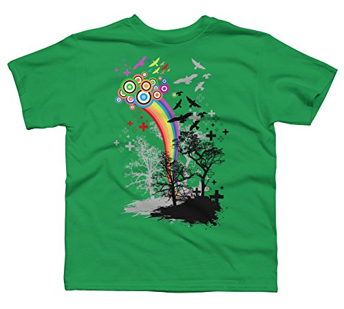 Bring Me Colors Boy's X-Small Kelly Green Youth Graphic T Shirt ()