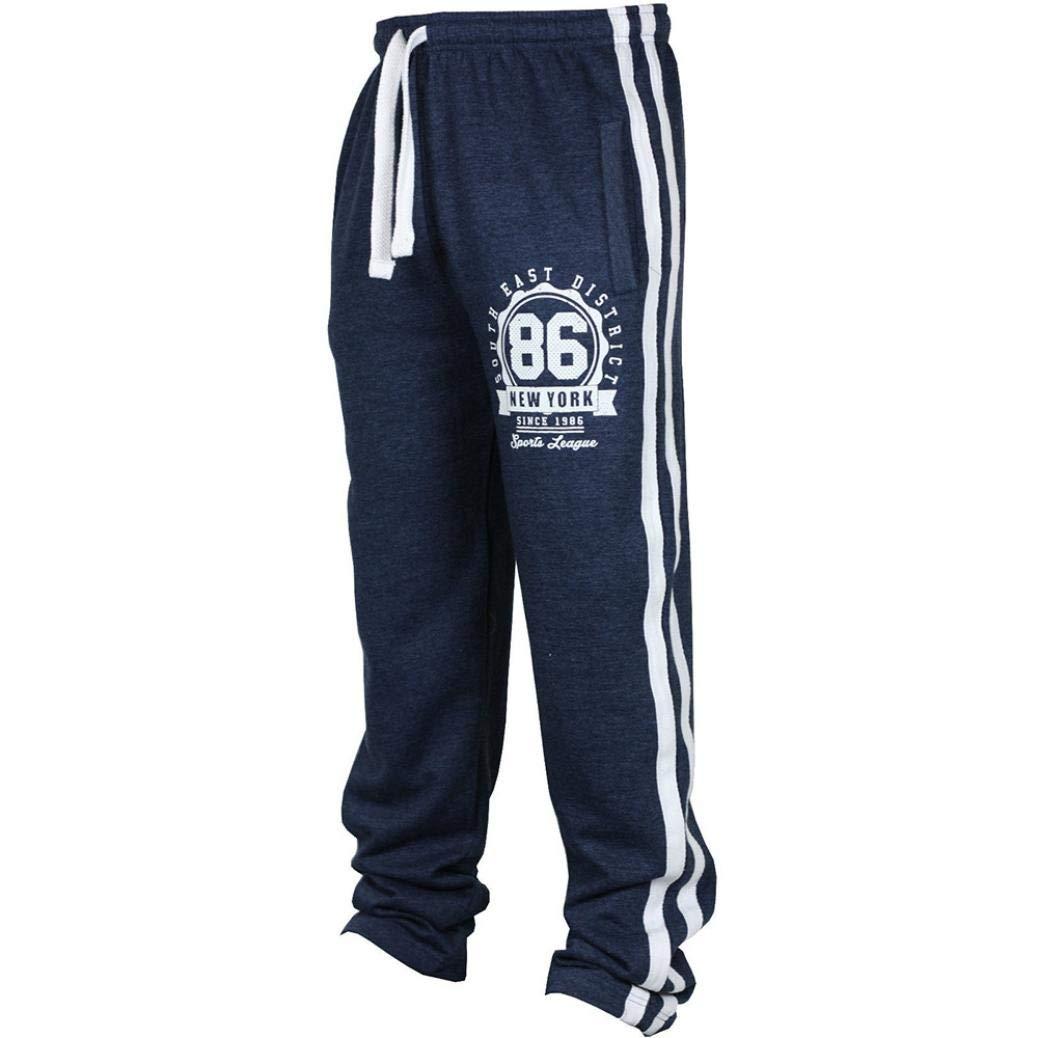 Best Seller! Fashion Men's Sport Jogging Fitness Pants - vermers Mens Casual Loose Sweatpants Drawstring Pants(3XL, Navy) by vermers