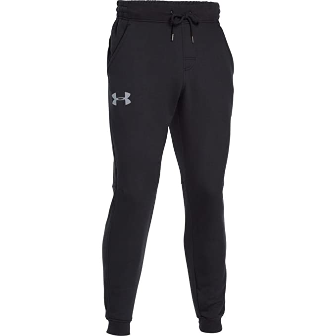 7ded2d29a1767 Under Armour Men's Rival Fleece Jogger Pants, Black /Steel, XXX-Large Tall