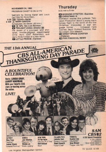 Macy's Thanksgiving Parade Linda Gray Clipping Magazine photo orig 1pg 5x7 - Hollywood Macys