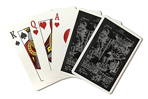 Blackboard Patent - Houdini Diving Suit (Playing Card Deck - 52 Card Poker Size with Jokers)