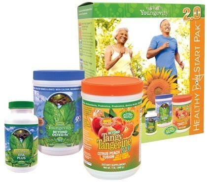 (Youngevity Healthy Body Start Pack 2.0 (Beyond Tangy Tangerine 2.0, Osteo FX Powder, Ultimate EFA Plus) (Ships Worldwide))