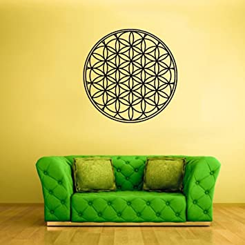 Wall Decal Vinyl Sticker Decals Flower of Life Mandala Bedroom ...
