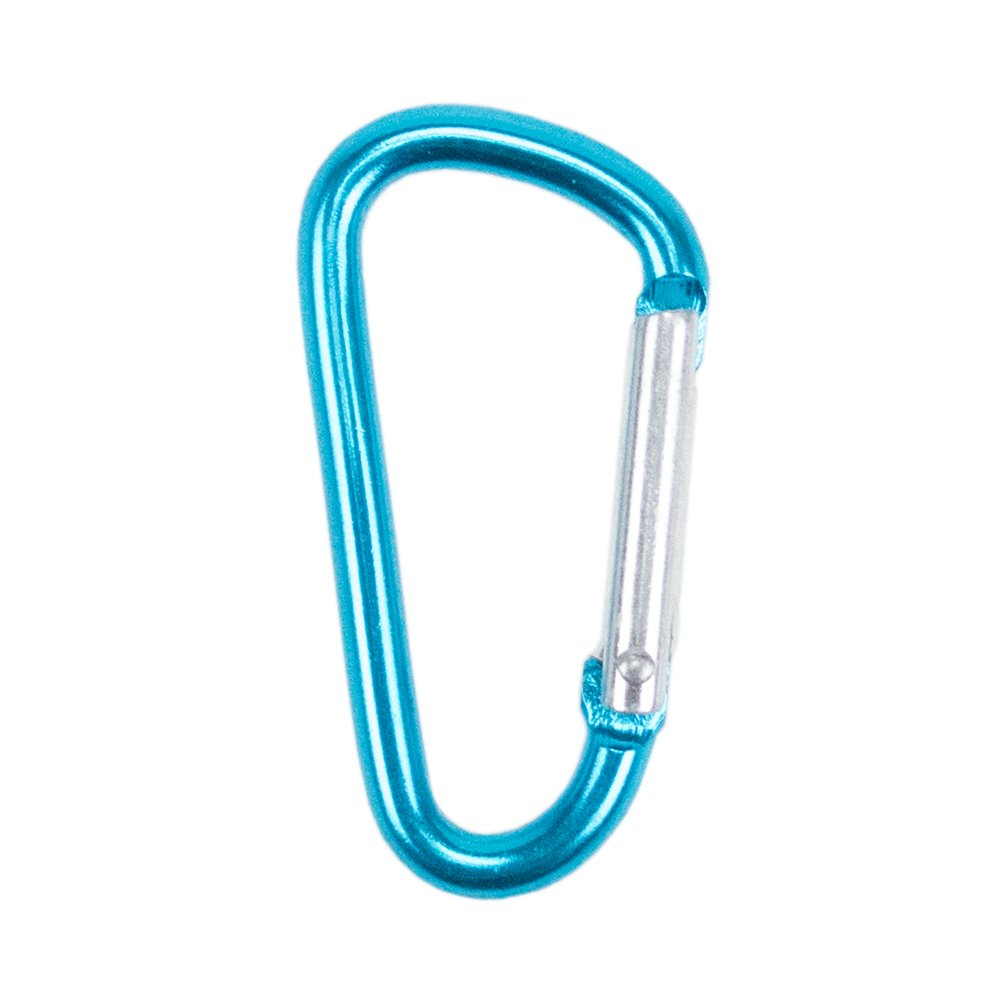 "Craft County Colorful 40mm D Shaped Spring Loaded Snap Hook Aluminum Gate 1.5"" Mini Carabiner Keychain Clip - Multiple Color Options - Pack Size Options"