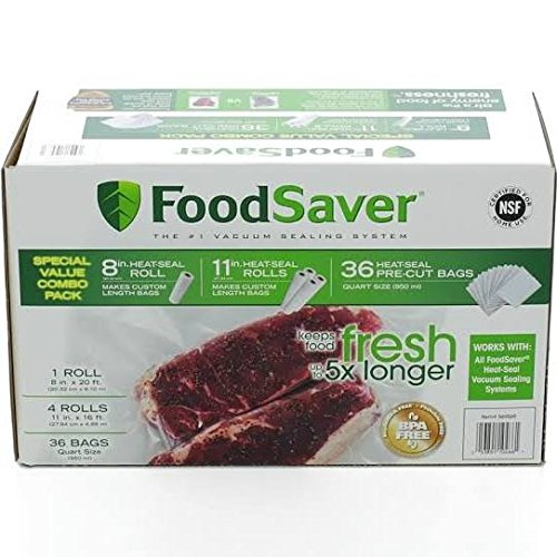 FoodSaver Replacement Rolls Combo Pack (5-Rolls + 36-Bags) by FoodSaver