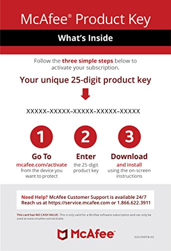 McAfee AntiVirus 1 PC [Activation Card by mail]