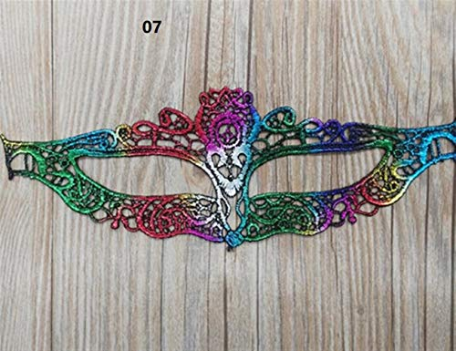 Classic Cute Party Ornament Halloween Party Hot Stamping Lace Mask Ladies Sexy Prom Veil(07) -