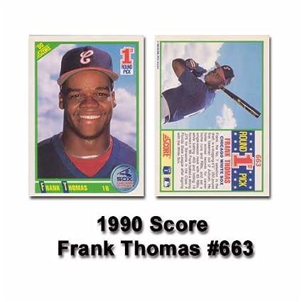 Amazoncom Frank Thomas 1990 Score Mlb Rookie Card 1st