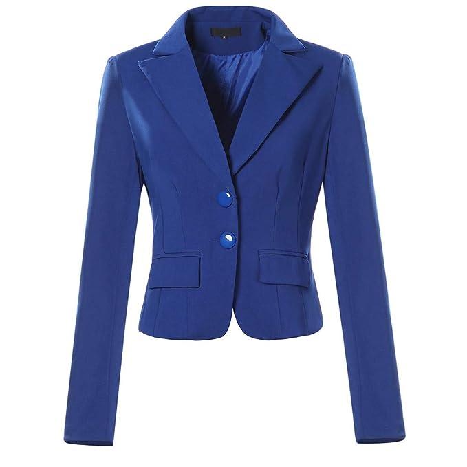 b66040b7e671 Mujer Otoño Primavera Blazers y Chaquetas Trabajo Oficina Dama Traje Slim  Office Blazer Mujer Escudo STRIR: Amazon.es: Ropa y accesorios