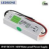 10W - 250W IP67 Waterproof LED Transformer Driver Power Supply for Strip DC 12V (DC12V 0.833A,10W)