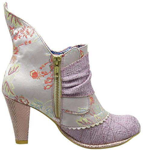 Ao Floral Pink Rose Miaow Choice Femme Bottines Irregular Multi qw1f8YS