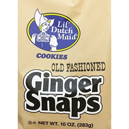 (2 x 10oz Lil's Dutch Maid Old Fashioned Ginger Snaps Cookies (Two Bags per order))