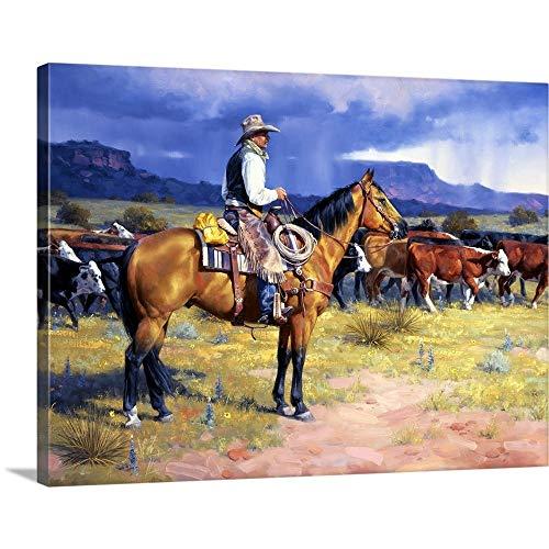 Great American Cowboy Canvas Wall Art Print, 24 x18 x1.25