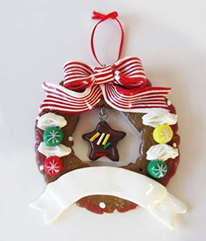 Amazon Com Encore Gingerbread Wreath With Star Personalized