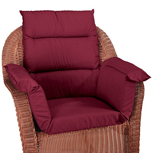 - Pressure Reducing Chair Cushion, Burgundy - Wheelchair, armchair, patio chair cushion - Generous sized, washable, polyester/cotton surface