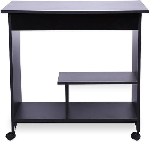 Mesa de ordenador, de madera, diseño moderno y elegante, incluye ...