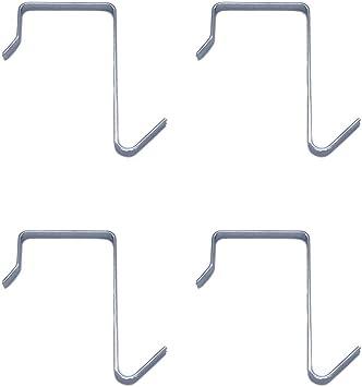 Over Door Coat Rack-Metal Storage Organizer-4 Hooks for Coats//Hats-Hangers