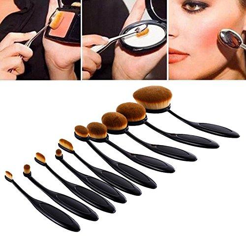 Wawoo® Make-up-Pinsel Set (mit Pinsel-Reinigung Geschenk) 10 pcs für Puderpinsel Rougepinsel Lidschattenpinsel Kabuki Pinsel Lippenpinsel Augenpinsel