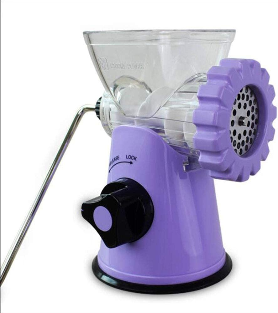 RDJSHOP Manual Juicer Original Hand Operated Healthy Juicer for Fruits Vegetables Wheatgrass Original healthy juicer (Color : Purple)