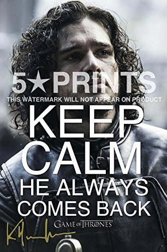 Kit Harington Poster Photo 12x8 Signed PP Actor Autograph Print Perfect Gift Keep Calm Jon Snow by 5 Star Prints (Perfect Autograph)