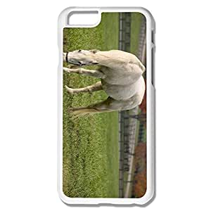 Geek White Horse Grazing IPhone 6 Case For Birthday Gift