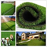 Fas Home Artificial Grass Turf 6FTX8FT(48 Square FT), 1.38'' Pile Height Realistic Synthetic Grass, Drainage Holes Indoor Outdoor Pet Faux Grass Astro Rug Carpet for Garden Backyard Patio Balcony