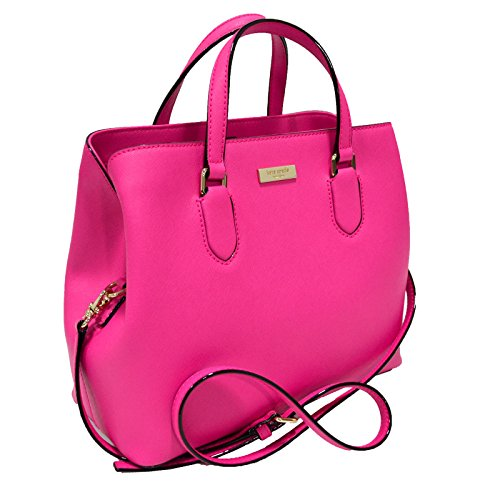 Pink Kate Spade - Kate Spade Evangelie Laurel Way Safiano Leather Peony Pink Satchel Crossbody Top Handle Handbag