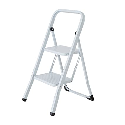 Excellent Lucky Tree 2 Step Ladder Non Slip Big Platform Folding Step Machost Co Dining Chair Design Ideas Machostcouk