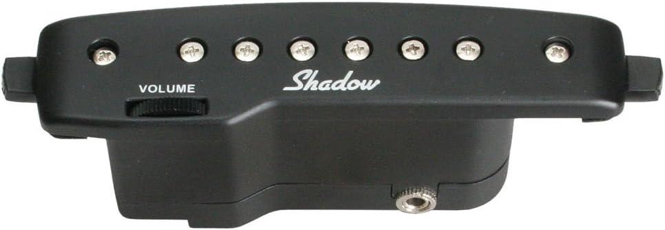 Shadow Electronics SH-145-BK - Pastilla para caja de resonancia para guitarra acústica (activa, humbucker), color negro