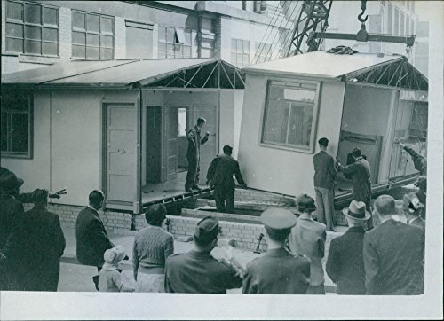 Airplane Factory - Vintage photo of Aluminium house - made by airplane factory assembled from four parts.
