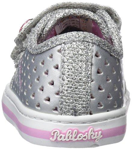 Pablosky 947450, Zapatillas Para Niñas Plateado (Plateado 947450)
