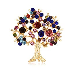 Tree Brooch Rhinestone Decorative Charms Jewelry