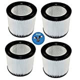 HQRP 4-pack Small Cartridge Filter for Shop-vac 903-98 90398...