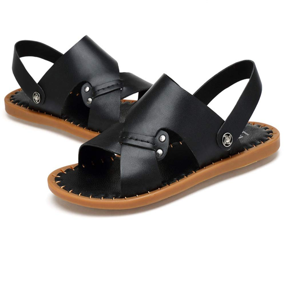 svart ShoESDQ Mans utomhus Sports Comfort Dual strand skor skor skor Andable Casual Sandals (24.0 -27.0) cm Anti -Skid Andable  billigaste priset