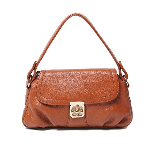 [HB104056C3 Genuine Leather Leisure Women's Handbag,Square Cross-Section Small Square Package] (Dallas Wholesaler Costumes Jewelry)