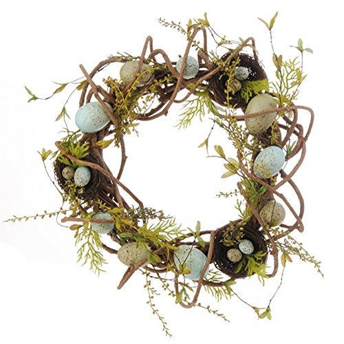 (Raz Imports Birds Nest with Easter Eggs)