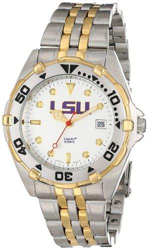 (NCAA LSU Tigers Men's All Star Watch Stainless Steel Bracelet)