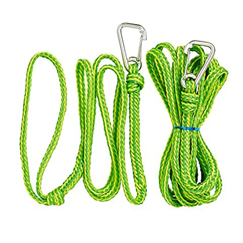 Premium PWC Dock Lines/Tow Ropes | Heavy Duty Braided Line | 2 Pc Bundle 7ft & 14ft Lengths | By Såk - Tow Rope Hook