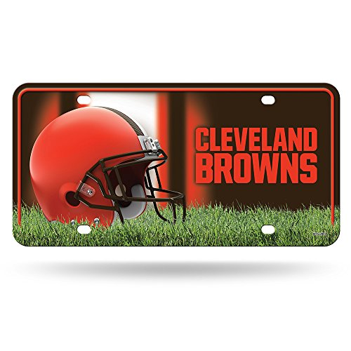 NFL Cleveland Browns Metal License Plate Tag