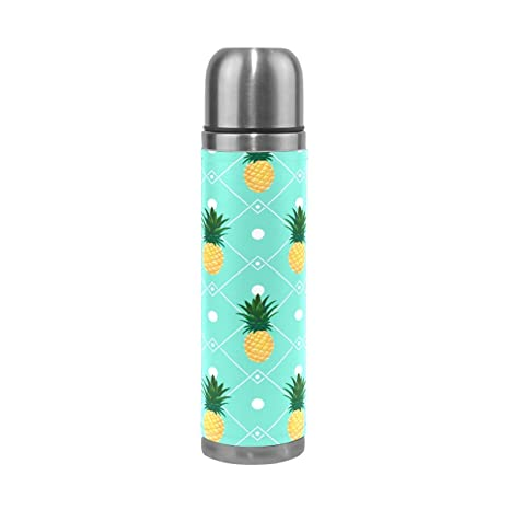 e805a44211 Image Unavailable. Image not available for. Color: HLive Stainless Steel Pineapple  Water Bottle Thermos Insulated Vacuum Cup ...