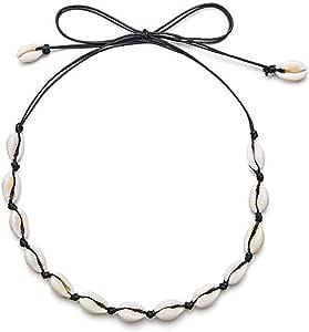 قلادة كاكوري شل قلادة للنساء الفتيات، مصنوعة يدويا قابلة للتعديل قمع شل قلادة مجوهرات - أساور صدف البحر لعطلة الصيف