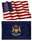 Michigan State Flags (5×8 US Combo) Review