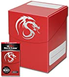 Red Trading Card Boxes - Gaming Deck Cases - Each Holds 100 Cards - DCLG-RD - (60 Boxes)