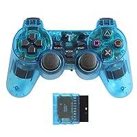 T-game PS2/PS1で使える ワイヤレスコントローラー スケルトンブルー